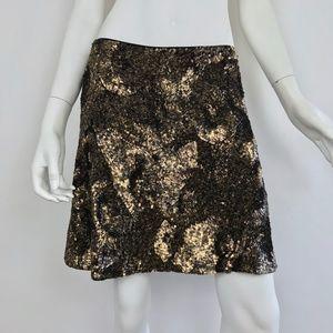 NEW {Polo Ralph Lauren} Gold Sequined Skirt, $498